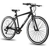 Hiland Hybrid Bike for Adult 700C Wheels with 7 Speeds