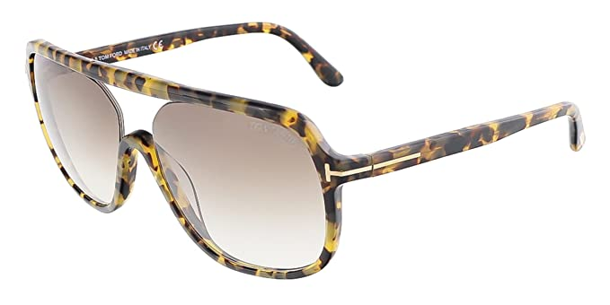 f5e8b402e2c Image Unavailable. Image not available for. Color  Tom Ford FT0442 S 53F  ROBERT Blonde Havana Square sunglasses ...