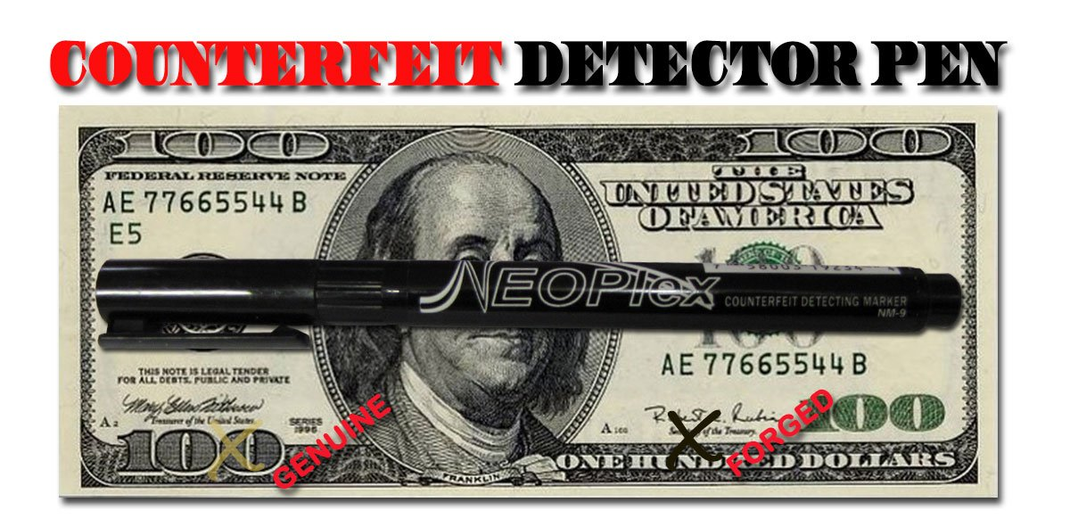 NEOPlex Counterfeit Currency/Money Detection Marker Pen - Set of 50