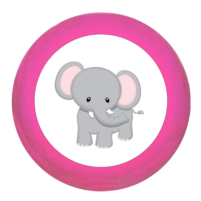 Poign/ée de meuble /Él/éphant en bois h/être H/être enfants Chambre denfant Animaux Sauvages Animaux du Zoo animaux de la jungle 1/R/êve Enfant