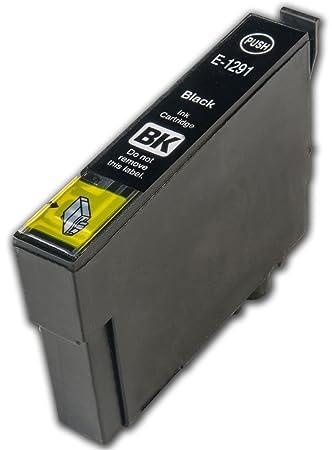 1 Cartucho de Tinta Chip Negro Compatible con Epson T1291 ...