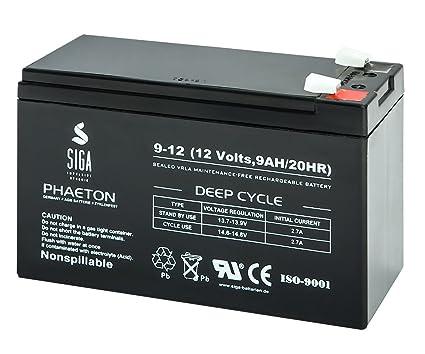 SIGA S9-12 Batterie 12 V//9 mAh