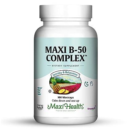 Maxi salud vitamina B-50 Complejo – con biotina y Inositol – Stress Fórmula –