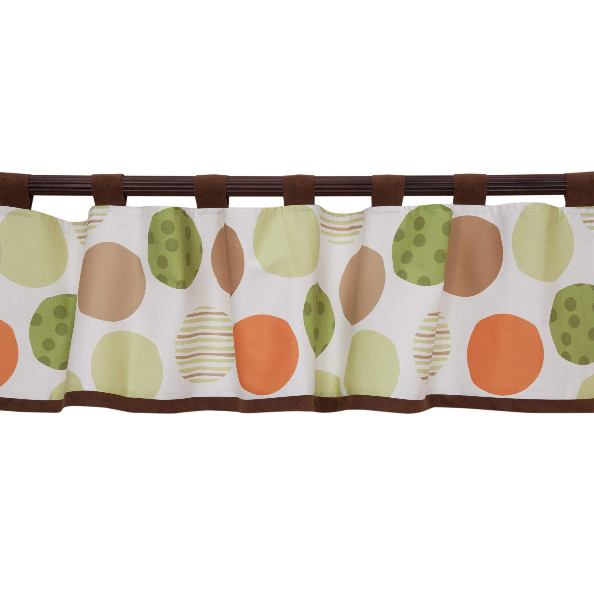 Lambs & Ivy Woodland Tales Window Valance - Brown, White, Green, Woodland,