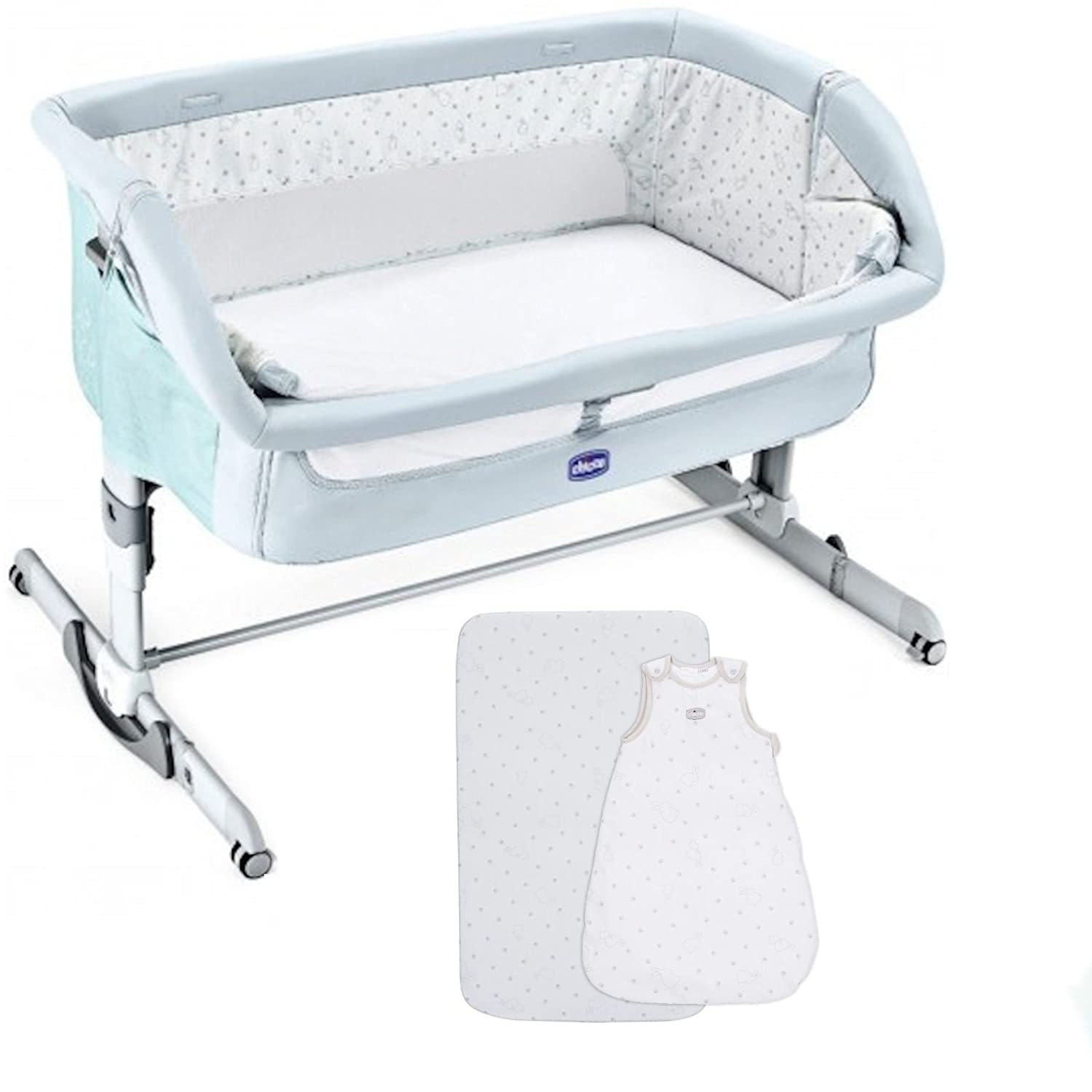 Chicco Next 2 Me Dream Crib With Chicco 1 Fitted Sheet and 1 Sleeping Bag - Fairytale Chicco - 4baby