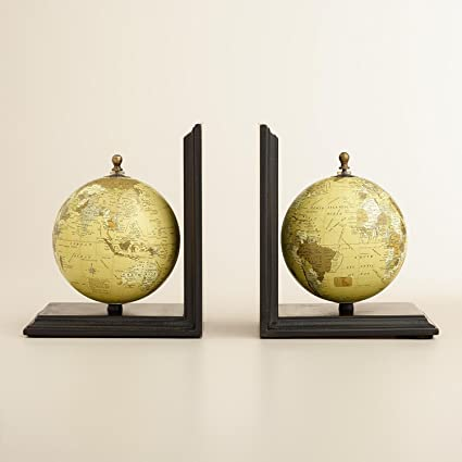 M&M Globe Vintage Bookend, Decorative Bookends for Office d�cor,Kitchen,Bookshelf for Decorative, Living Room,Home Decor and Gift Item 8