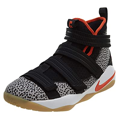 260d5f6115080 Nike Boy s Lebron Soldier XI SFG (GS) Basketball Shoe Black Team Orange