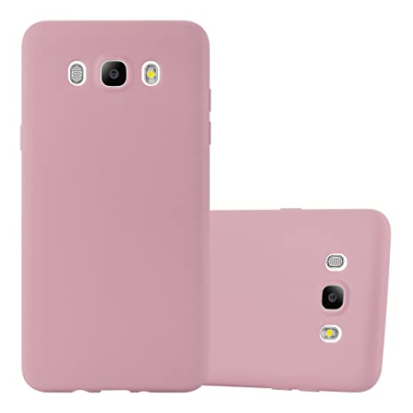 Cadorabo Case Works with Samsung Galaxy J7 2016 in Candy Pink – Shockproof and Scratch Resistant TPU Silicone Cover – Ultra Slim Protective Gel Shell ...