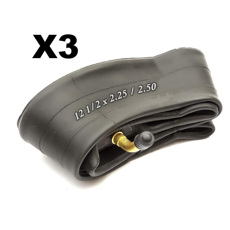 3X Inner Tubes 12 12 1//2 x 2.25//2.50 Bent Valve Stroller Pushchair Pram Buggy Quinny Speedi Bugaboo Peach Pear