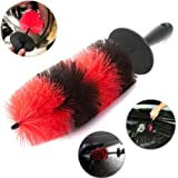 """Master Wheel Brush Big, Easy Reach Wheel and RIM Detailing Brush 18"""" Long With 9x4 Inch Soft Bristle By TAKAVU, Car Wheel Brush, Rim Tire Detail Brush,Multipurpose use for Wheels,Rims,Exhaust(XL)"""