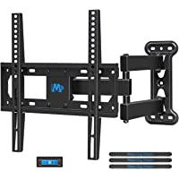 Mounting Dream Full Motion TV Wall Mount Corner Bracket with Perfect Center Design for most of 26-55 Inch LED, LCD, OLED Flat Screen TV, Mount with Swivel Articulating Arm, up to VESA 400x400mm MD2377