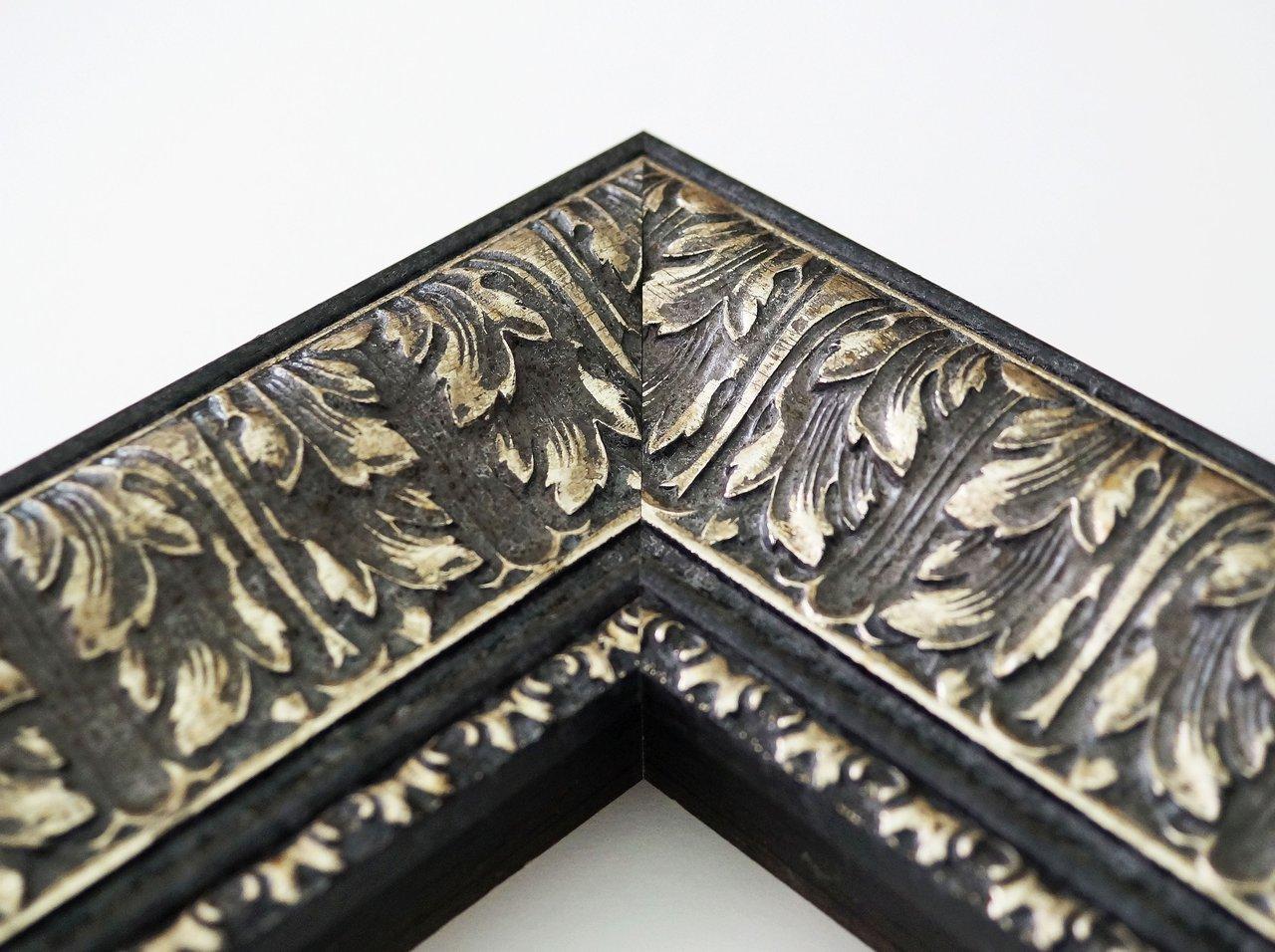 Flurspiegel Schwarz Silber Ancona Barock 7,5 alle Größen