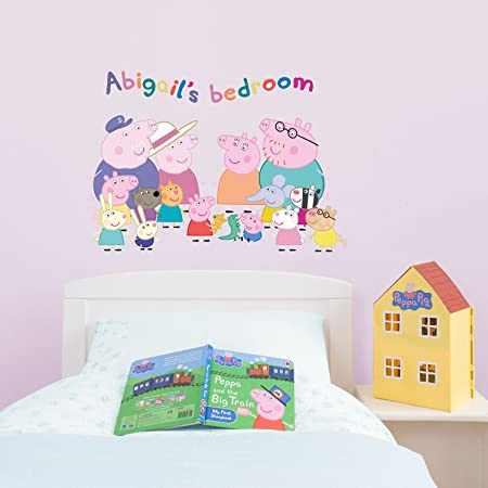 Personalised Peppa Pig Family wall stickers Regular size