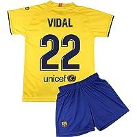 Champion's City Kit Camiseta y Pantalón Infantil Segunda Equipación - FC Barcelona - Réplica Autorizada - Jugadores