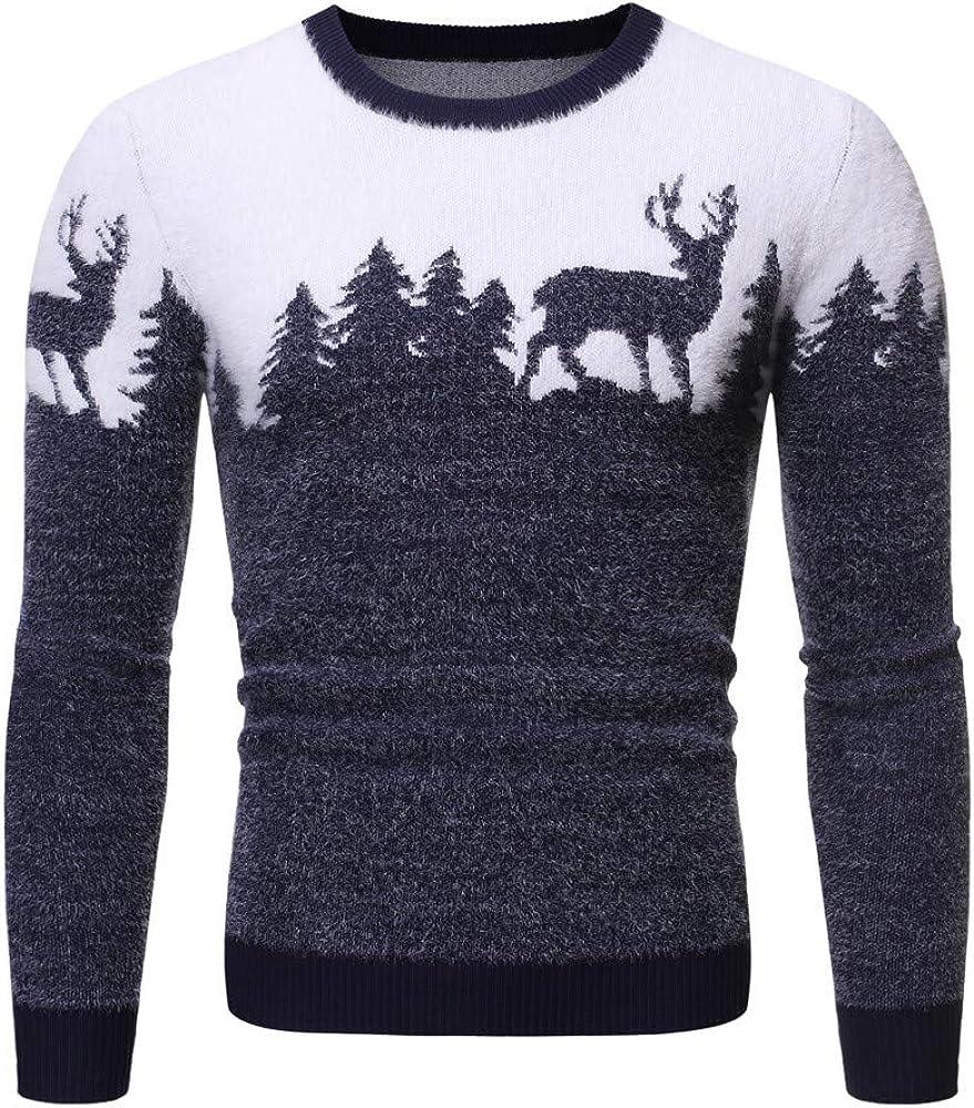 K-Youth Jersey Hombre Manga Larga Navidad Estampado Sueter Hombre Invierno Ropa Adolescentes Chico Camisa de Punto Hombres Otoño Top Blusa Suéter Chicos (Azul, S): Amazon.es: Ropa y accesorios