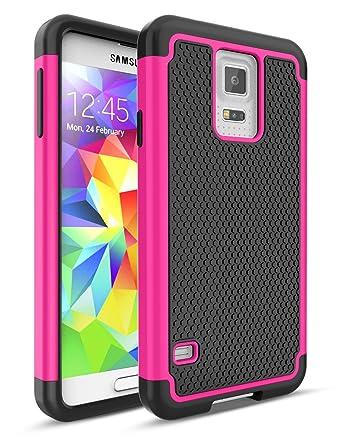Amazon.com: Samsung Galaxy S5 Funda de plástico, hasta [de ...