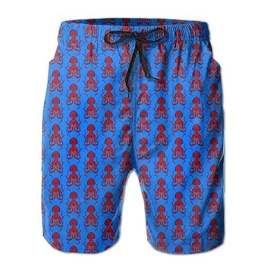 Calzado de Verano para Hombre Calamar Rojo Trajes de baño de ...