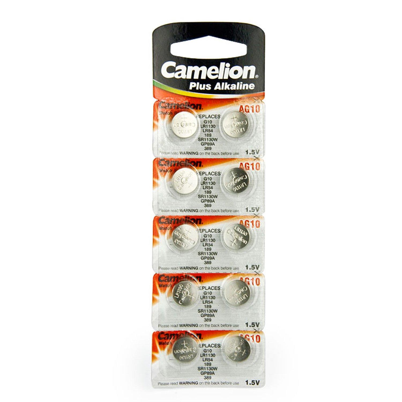 20 CAMELION AG10 189389 LR1130 Pile Bouton Longue durée de Conservation 0% de Mercure (Date d'expiration marqué)
