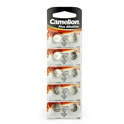 6 opinioni per Camelion Batteria bottone Alcalina AG10 / LR54 / 189 / 389 / LR1130, Confezione