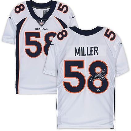 more photos 0b2d5 1e15f Von Miller Denver Broncos Autographed Nike White Limited ...