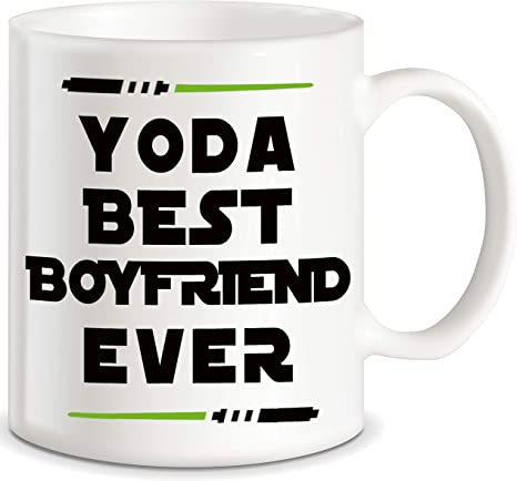 Amazon Com Yoda Best Boyfriend Ever Funny Coffee Mug Boyfriend Gag Gifts For Partner Lover Bf Men Unique Couples Dating Valentines Anniversary Christmas Birthday Novelty Cup Present Idea For Him From Girlfriend Kitchen