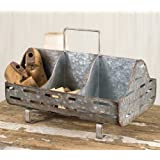 Vintage Look Galvanized Feed Trough Caddy