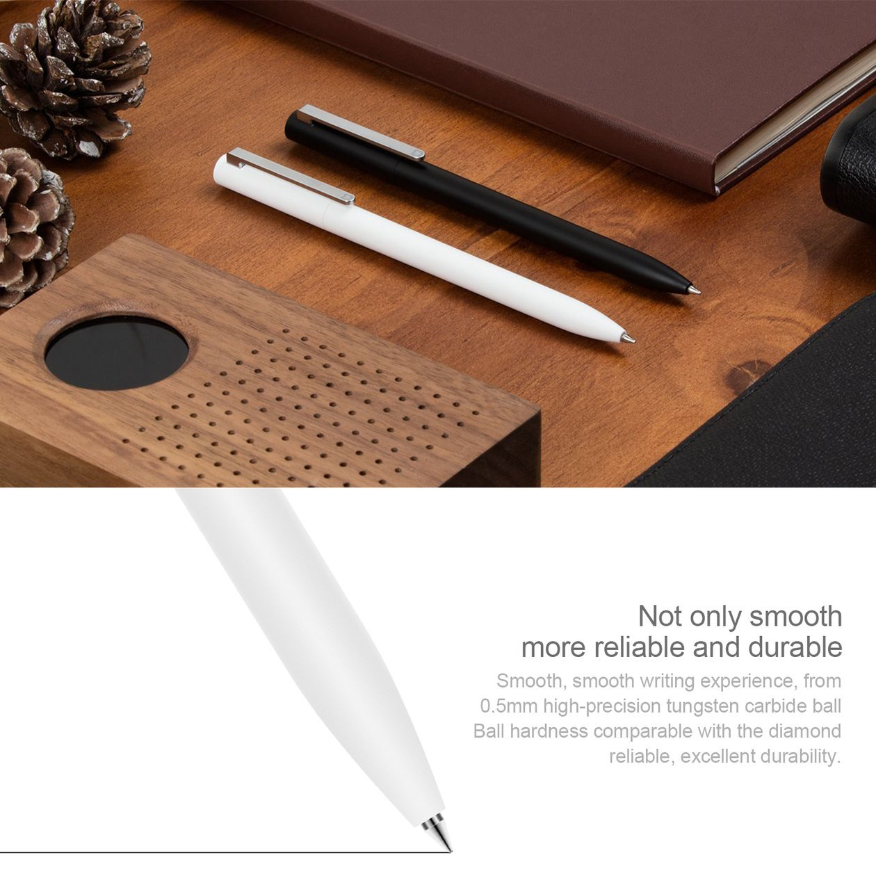 Penne Xiaomi Mijia Universal Roller Durable Smooth Signing Pen con disegno bianco retrattile e ricaricabile