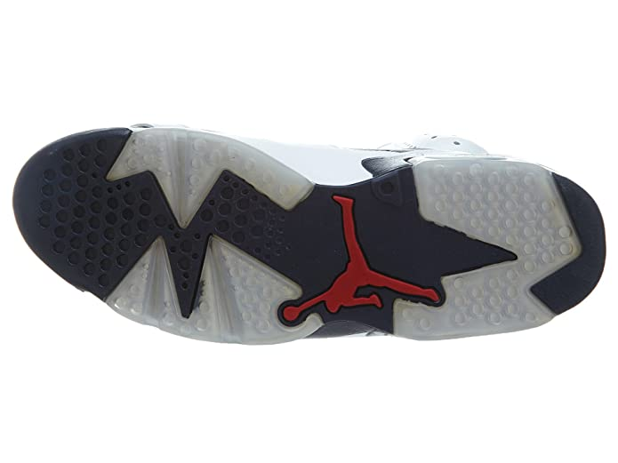 c8d548f2284 Amazon.com | Nike Mens Air Jordan 6 Retro Olympic White/Midnight Navy-Varsity  Red Leather Basketball Shoes Size 8.5 | Fashion Sneakers
