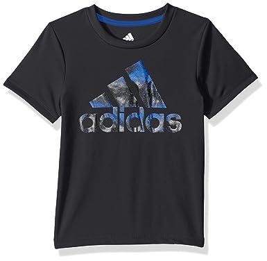 c046e19fe Adidas Boys' Toddler Short Sleeve Logo Tee Shirt, Fusion ADI Black, ...