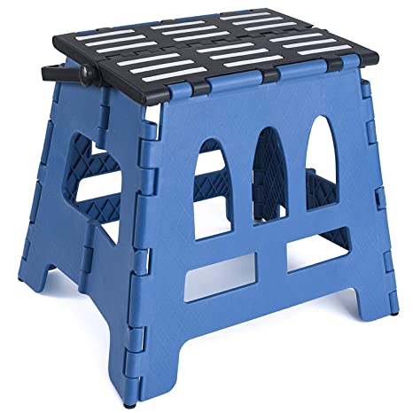 Superb Acko Folding Step Stool Child Step Stool With Handle For Adults And Kids Kitchen And Garden Step Stool Black Matching Blue Color Ocoug Best Dining Table And Chair Ideas Images Ocougorg