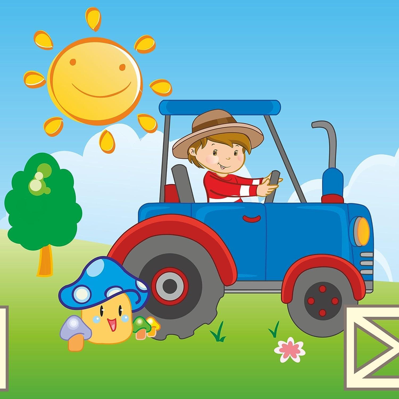 Vlies Bordüre selbstklebend fürs Kinderzimmer Wandtattoo Traktor ...