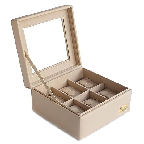 Cordays Estuche Relojero para 6 Relojes con Vitrina de Cristal – Calidad Superior – Hecho a