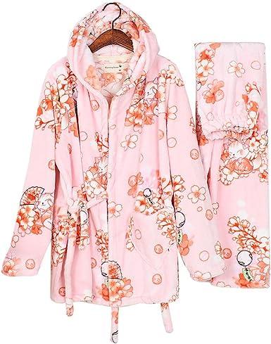 Traje de Pijama de Kimono de Franela para Mujer Batas de ...