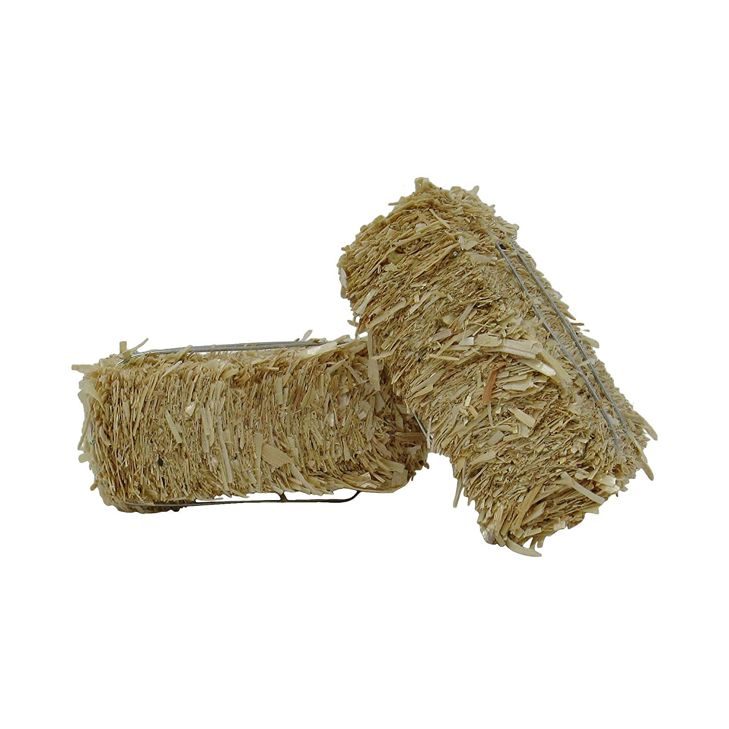 Embellishing and Creating Package of 2 Ultra Mini Hay Bales Made of Real Dried Straw for Crafting