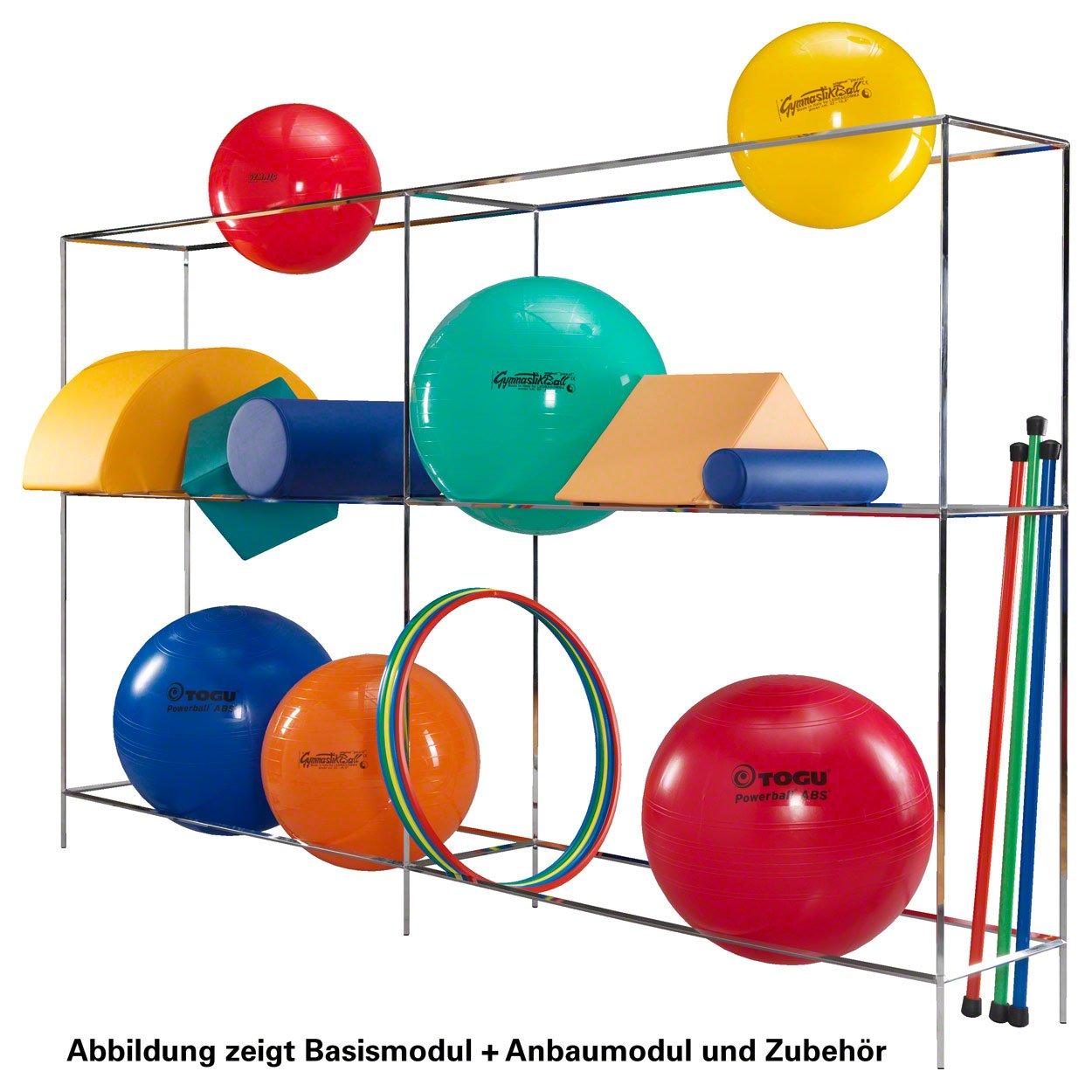 Ballregal Anbaumodul für Basismodul Standregal für Sporthallen Physiotherapie