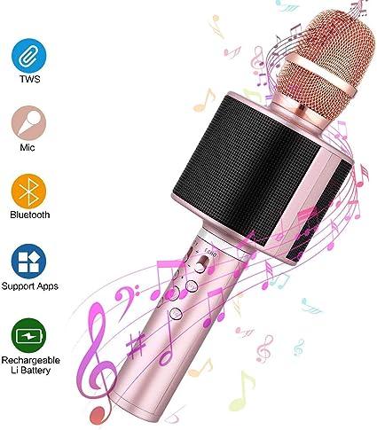 erholi Wireless Bluetooth Microphone Audio Mobile Phone Karaoke Microphone Microphones