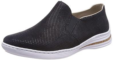 rieker Damen Slipper Blau Schuhe