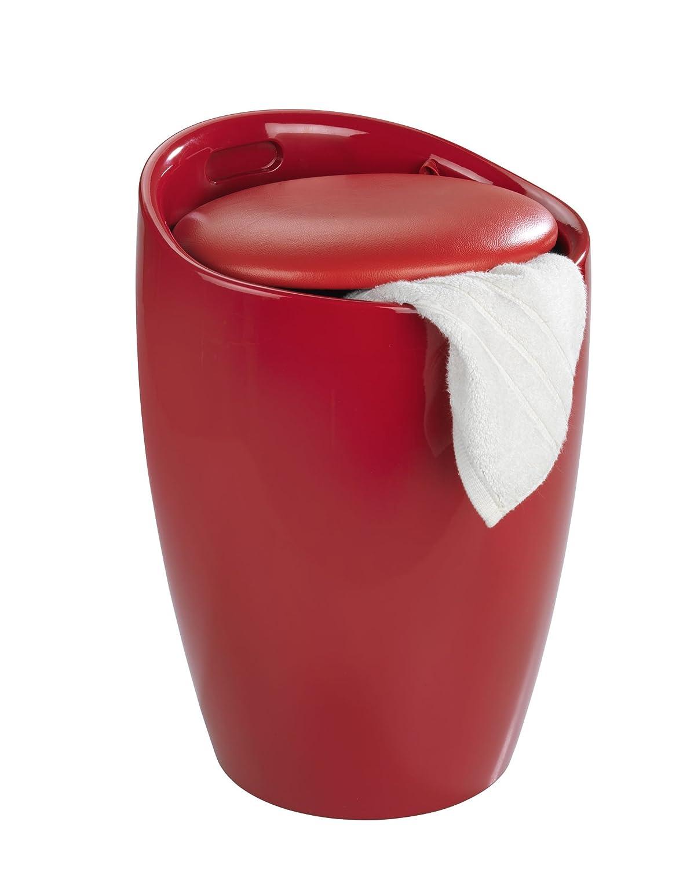 Badhocker wenko  WENKO 20624100 Hocker Candy Red - Badhocker, mit abnehmbarem ...