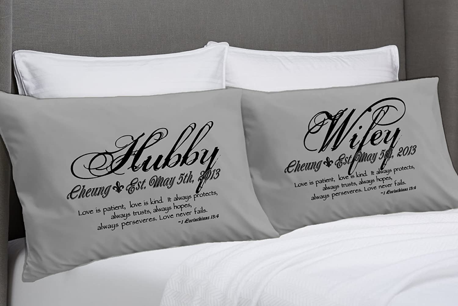 wife pillows pillowcase cover husband pillow products x and throw personalized