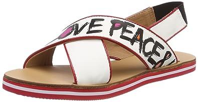 Womens San.Lod.54418/20 Nap.Bian/Vern.Ross Sling Back Sandals Love Moschino 5QTMu
