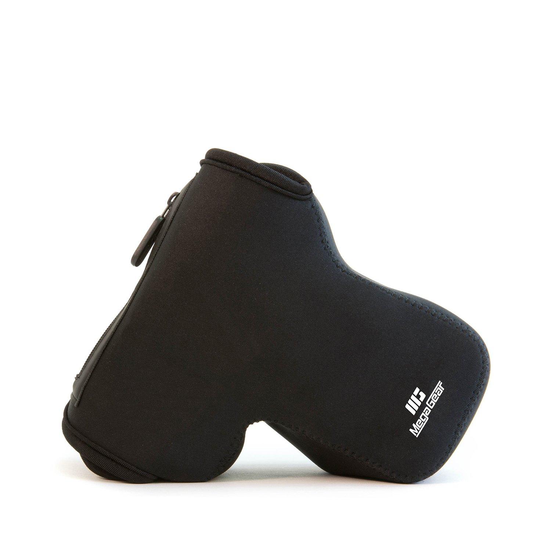 MegaGear MG1268 Nikon D5600, D3400 (18-105), D5500, D3300, D5300, D5200, D3200, D5100, D3100 Ultra Light Neoprene Camera Case with Carabiner, Black