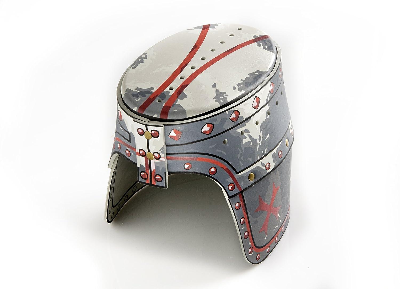 Medieval Knight Helmet Replica for Kids The Great Helmet Old Iron Effect Metallic Children One Size