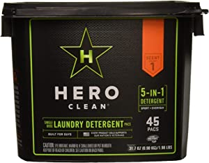Hero Clean Laundry Detergent Pacs, 45-Count