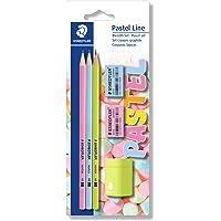 STAEDTLER Blyertsuppsättning pastel linje (sexkantig form, lackerad i pastellfärger, hårdhet HB, set med 3 pennor…