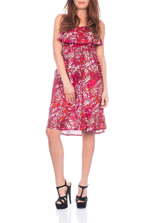 Plissiertes Damenkleid mit einstellbaren Trägern und Blumen-Sommer-Aufdruck von Pistachio, rot, violett, blau