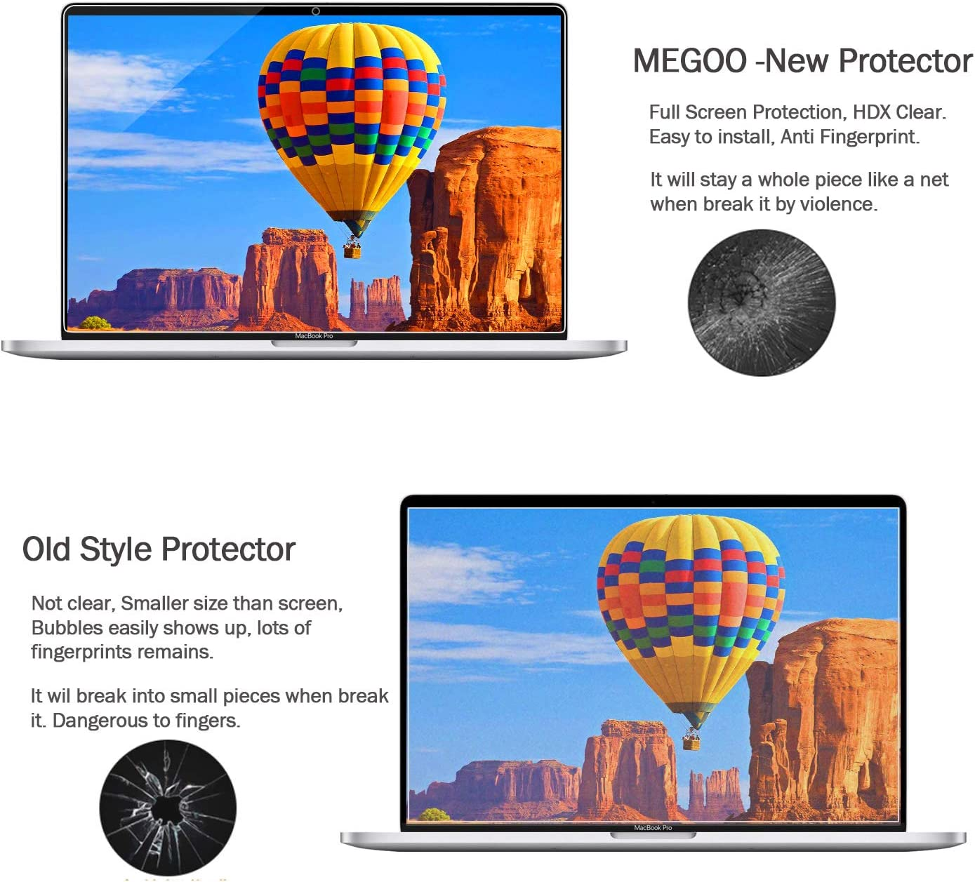 Adeway Screen Protector For MacBook Pro 16 inch Anti-Scratch High Sensitivity Premium HD Clear 2 pack Smooth Touching Screen Protector