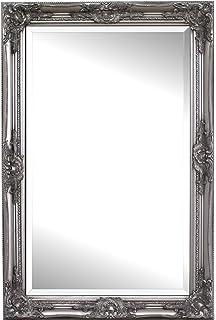 espejo pared madera slida shabby chic espejo grande x cm plata