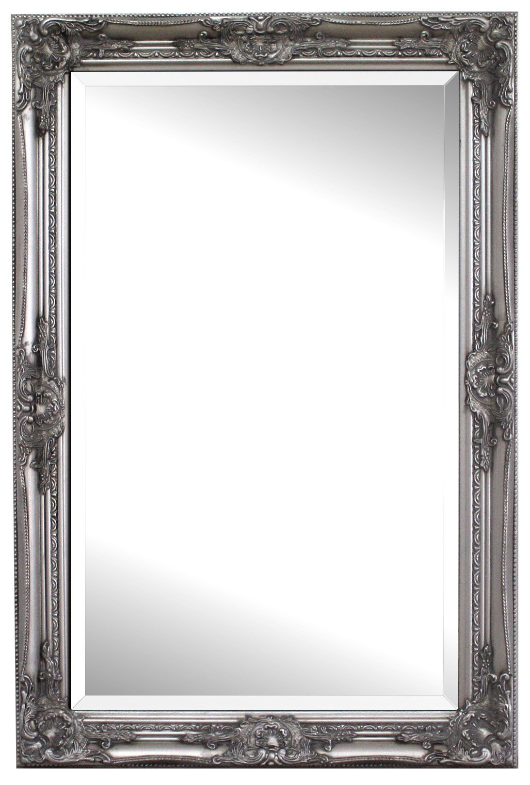 Solid wood shabby chic wall mirror large 90 x 60 cm for Miroir 60x90