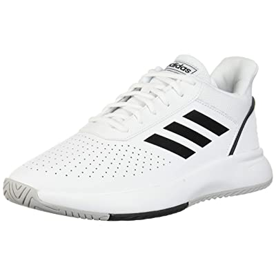 adidas Courtsmash White/Black/Gry Court Shoes (F36718): Adidas: Sports & Outdoors
