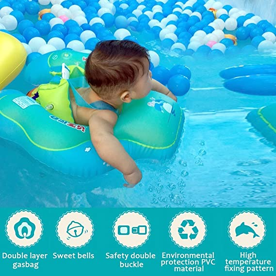 Flotador para Bebé, Honkid Recién nacido Natación Flotador Anillo de Natación, Bebé Juguetes de Piscina Inflable de Piscina Nadar Anillo para Niños Bebés de ...